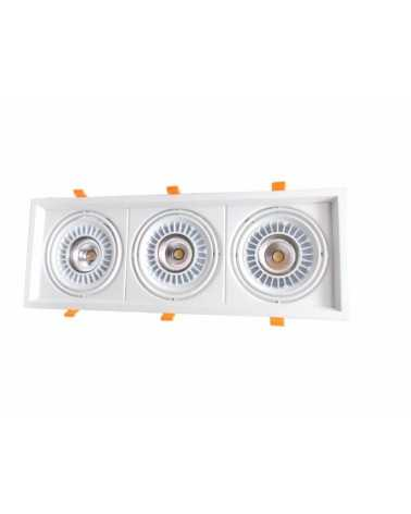 Downlight Spot LED COB Rectangle Orientable 3x20W 120°