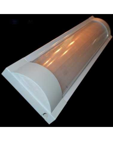 Double strip for T8 LED Tubes 60cm Opaque Reflector