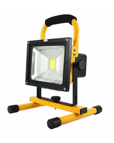 20W Portable Rechargeable LED Floodlight IP65 YELLOW