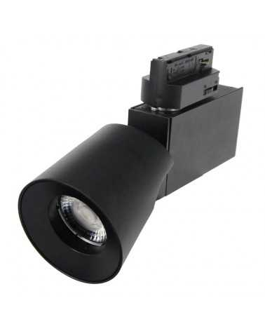 LED track light 12W 38 ° Single phase Dimmable BLACK