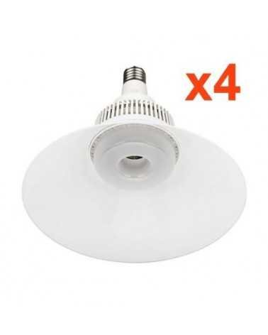 Ampoule LED Cloche E40 80W 220V 120° (Pack de 4)