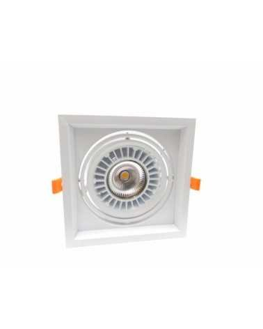 Downlight Spot LED COB Carré Orientable 20W 120°