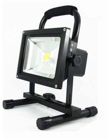 Projecteur LED Rechargeable 20W Portable IP65 NOIR
