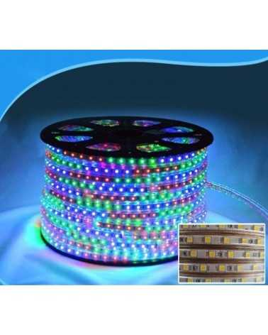 Bandeau LED 220V RGB Recoupable 5050 IP65 50M 60LED/m