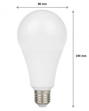 Ampoule E27 LED 18W A80 220V 230° (Pack de 5)