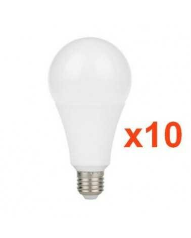Ampoule E27 LED 9W A60 220V 230° (Pack de 10)