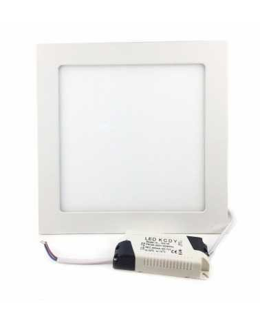 Downlight Dalle LED Extra Plate Carré BLANC 18W