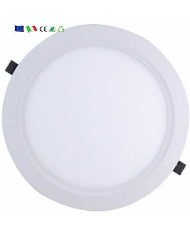 Downlight Dalle LED Extra Plate Ronde BLANC 24W