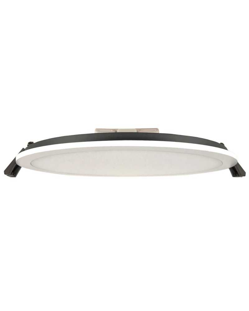 Downlight Dalle LED Plate Ronde Blanc 8W 120°