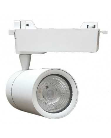 LED Track Spotlight 30W 80 ° COB Single-phase WHITE