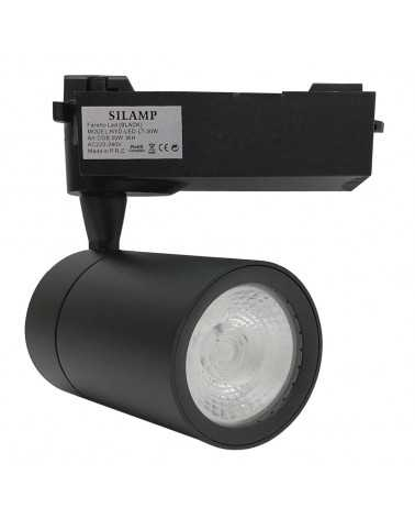 LED Track Spotlight 30W 80 ° COB Single phase BLACK