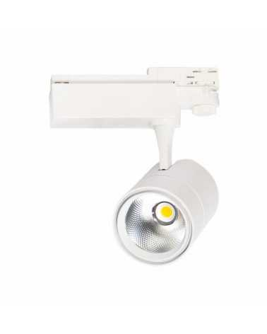 LED Track Spotlight 30W 80 ° COB Three-phase WHITE