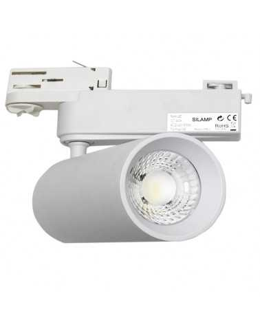 LED Track Spotlight 40W 80 ° COB Three-phase WHITE