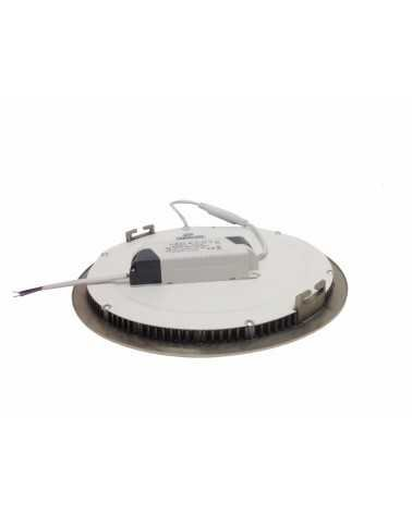 Downlight Dalle LED Extra Plate Ronde ALU 12W