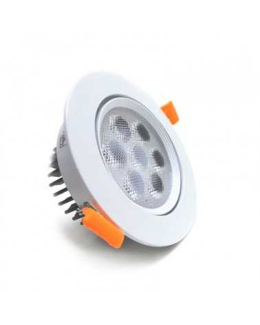 Round Recessed LED Spotlight 7W 80 ° Adjustable
