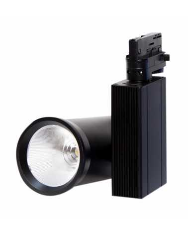 LED Track Spotlight 35W 80 ° COB Three-phase BLACK