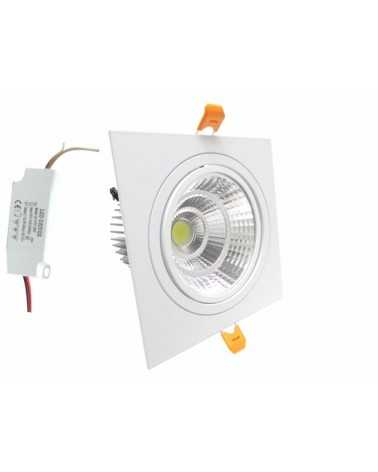 Downlight Spot LED COB Carré Orientable 24W