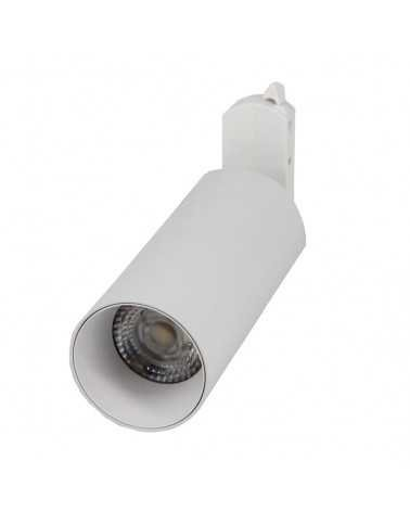 Spot LED sur rail 18W 38° Monophasé BLANC