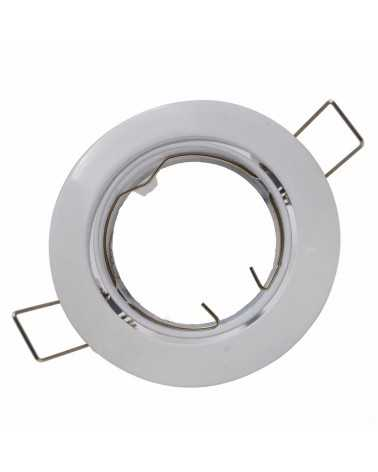 Support Spot Rond Orientable BLANC