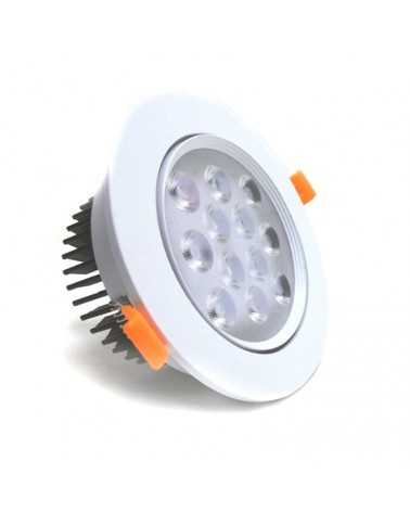 Spot LED Encastrable 12W 80° Orientable Rond