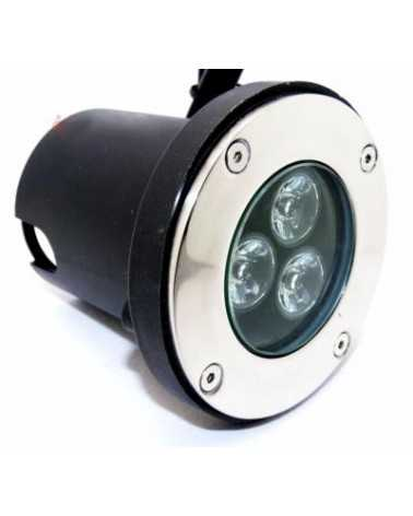 Outdoor Recessed Floor Spot LED 3W IP65 80 °