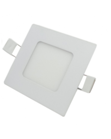 Downlight LED Panel 3W 120 ° Extra Flat Square WHITE