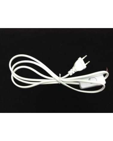 Power cable with switch 1.5m 220V WHITE