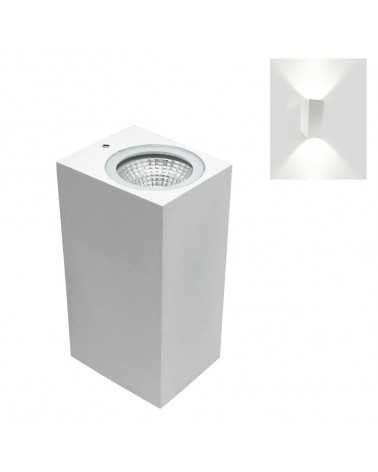 6W LED Wall Light IP44 Double Beams WHITE