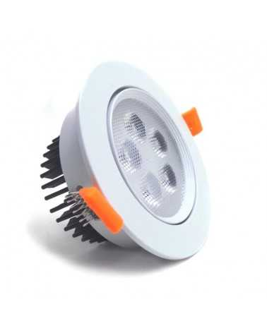Spot LED Encastrable 5W 80° Orientable Rond