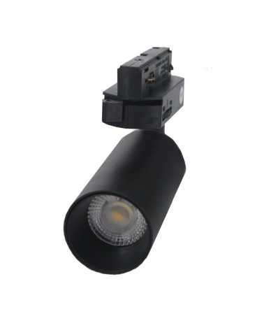 LED Track Spotlight 6W 38 ° Single phase BLACK