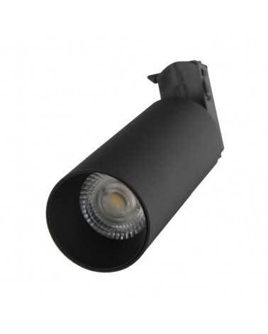 LED Track Spotlight 18W 38 ° Single phase BLACK