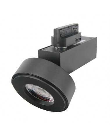 LED Track Spotlight 12W 38 ° Single phase BLACK