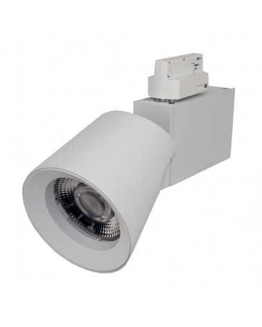 Spot LED sur Rail 25W 38° Triphasé BLANC