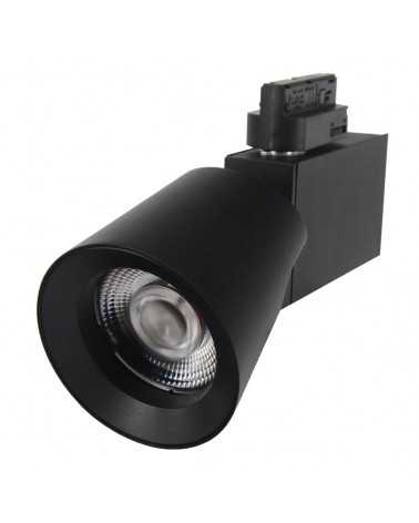 LED Track Spotlight 25W 38 ° Three-phase BLACK