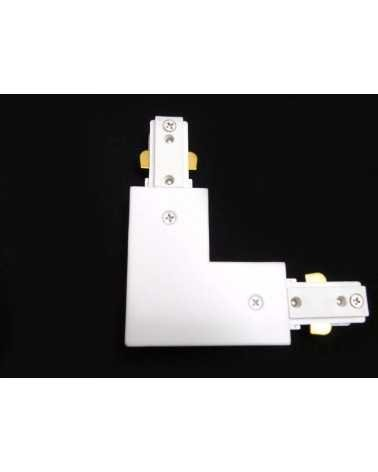 Angular Rail Single Phase Connector WHITE