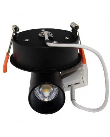 9W Dimmable COB LED Spot Downlight Black