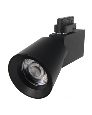 LED Track Spotlight 32W 38 ° Single phase BLACK