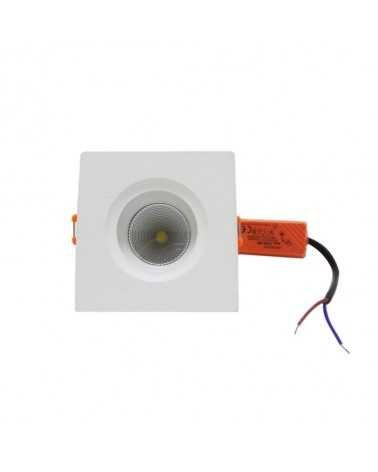 Spot Recessed LED COB 5W 80 ° Square