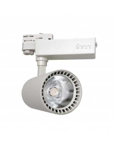 LED Track Spotlight 30W 80 ° SMD Three-phase WHITE