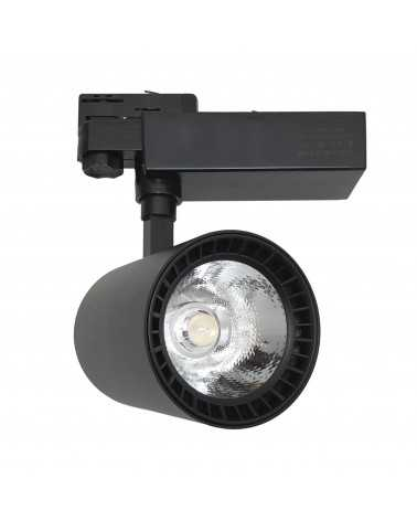 LED Track Spotlight 40W 80 ° COB Three-phase BLACK