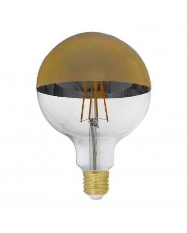 Ampoule E27 LED Filament Dimmable 8W G125 Globe Reflet Or
