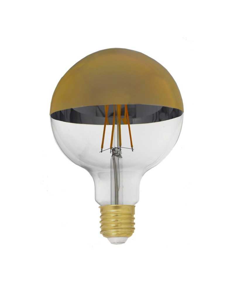 Ampoule E27 LED Filament Dimmable 8W G95 Globe Reflet Or