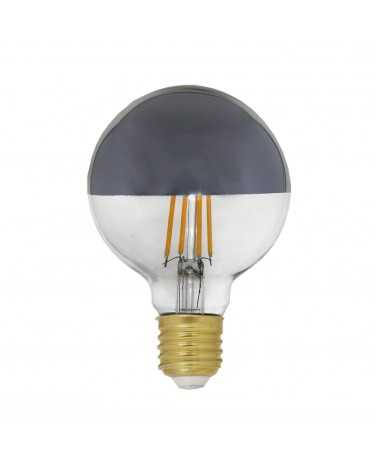 E27 LED bulb Dimmable 8W G80 Globe Reflection SILVER