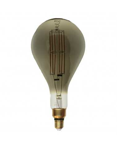 E27 LED Filament Dimmable Bulb 8W PS160 Drop SMOKE