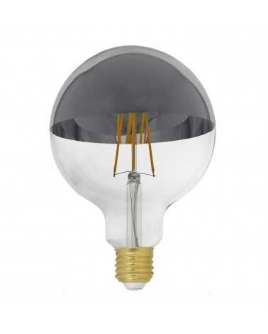 Ampoule E27 LED Filament Dimmable 8W G125 Globe Reflect ARGENT
