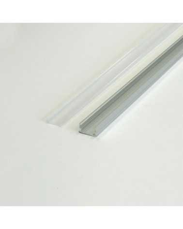 1m Aluminum Profile for LED Strip Opaque White Cover