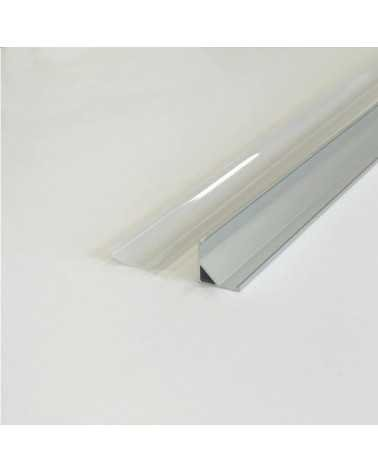 1m Angle Aluminum Profile for LED Strip Opaque White Cover