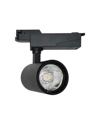 LED Track Spotlight 20W 80 ° COB Single Phase BLACK