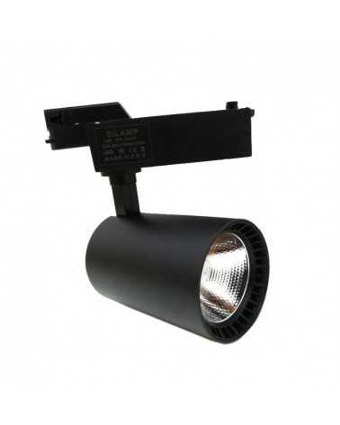 LED Track Spotlight 30W 80 ° SMD Single Phase BLACK