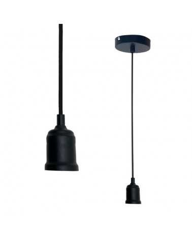 Suspension Ampoule E27 Mat NOIR